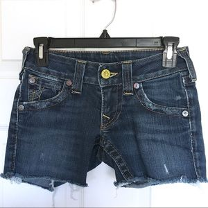 TRUE RELIGION Cut Off Shorts Size 24